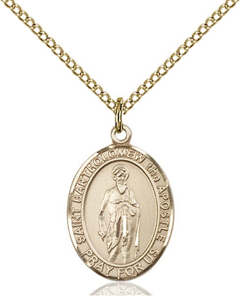 Gold-Filled St. Bartholomew the Apostle Pendant