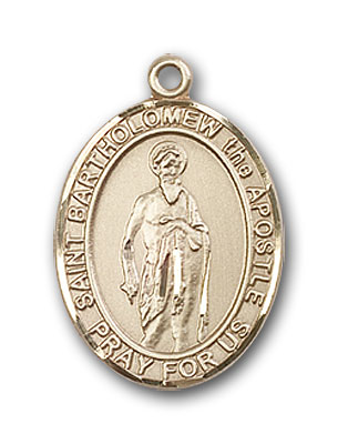 14K Gold St. Bartholomew the Apostle Pendant
