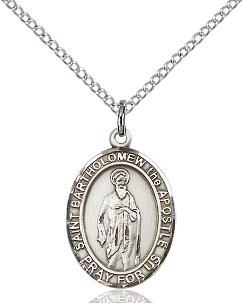 Sterling Silver St. Bartholomew the Apostle Pendan