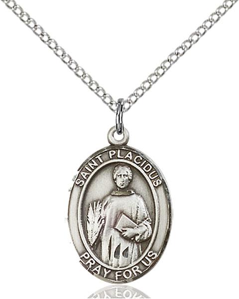 Sterling Silver St. Placidus Pendant
