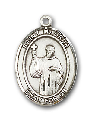 Sterling Silver St. Maurus Pendant