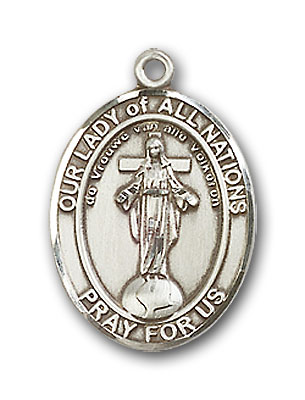 Sterling Silver Our Lady of All Nations Pendant