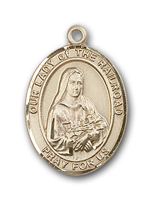 Gold-Filled Our Lady of the Railroad Pendant