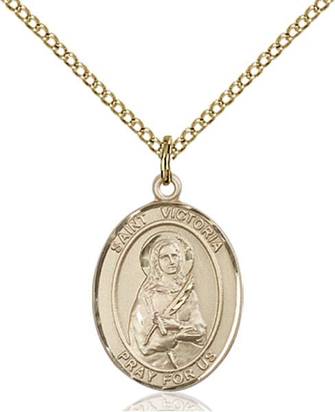 Gold-Filled St. Victoria Pendant