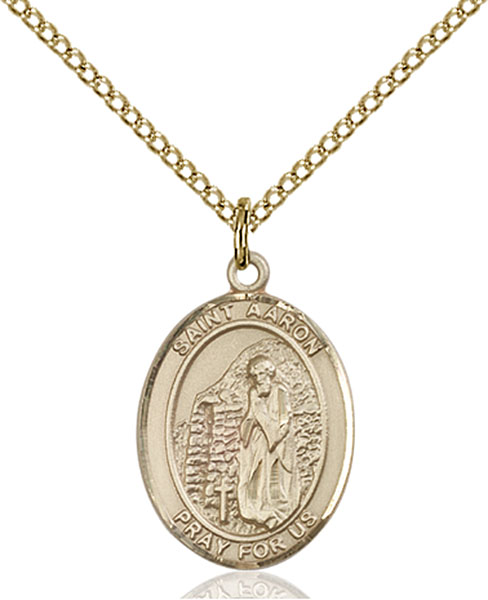 Gold-Filled St. Aaron Pendant