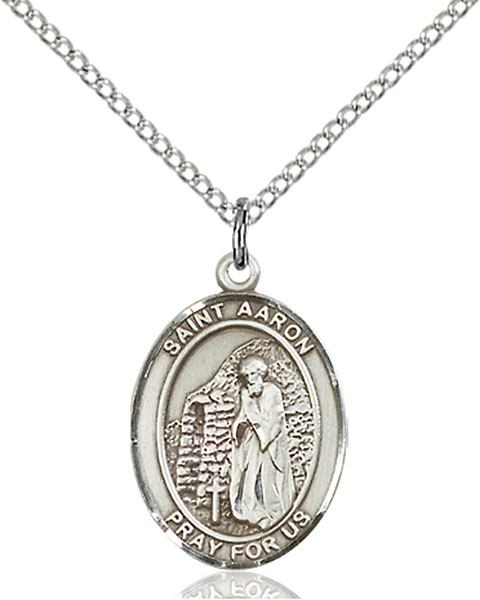 Sterling Silver St. Aaron Pendant