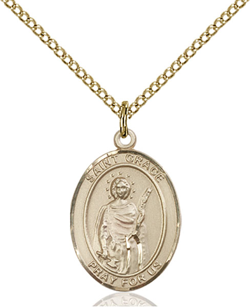 Gold-Filled St. Grace Pendant