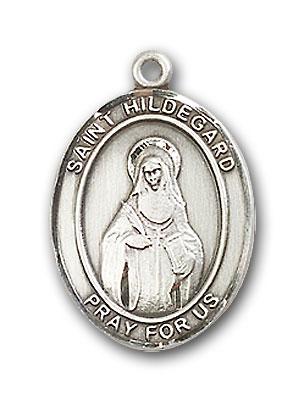 Sterling Silver St. Hildegard Von Bingen Pendant