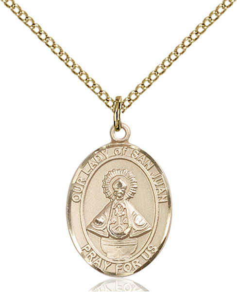 Gold-Filled Our Lady of San Juan Pendant