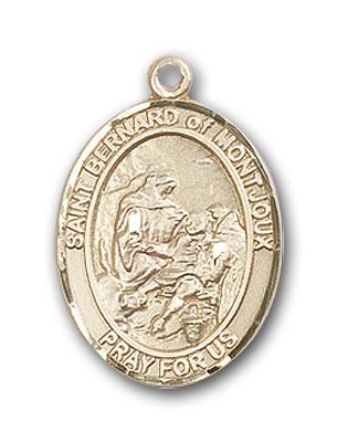 14K Gold St. Bernard of Montjoux Pendant