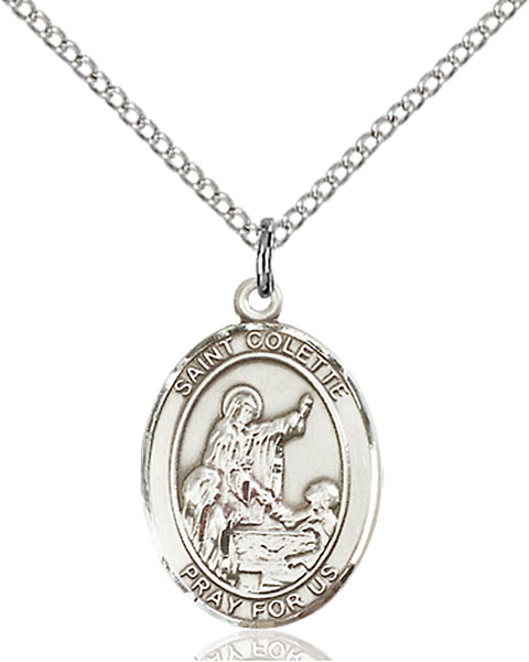 Sterling Silver St. Colette Pendant