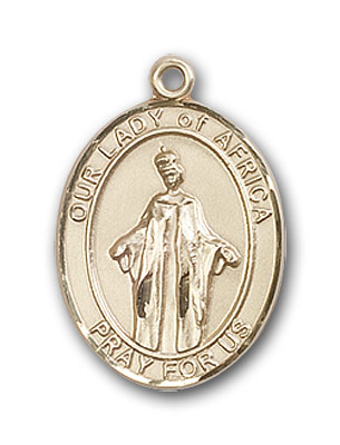 Gold-Filled Our Lady of Africa Pendant
