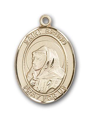 14K Gold St. Bruno Pendant