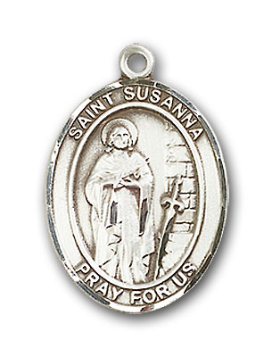 Sterling Silver St. Susanna Pendant
