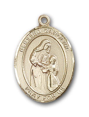 14K Gold Blessed Caroline Gerhardinger Pendant