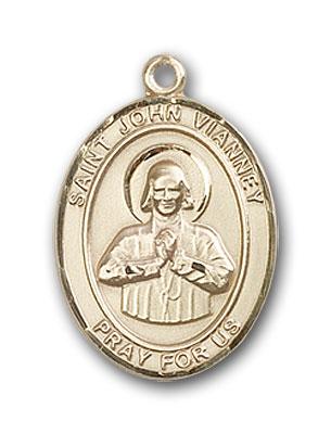 14K Gold St. John Vianney Pendant