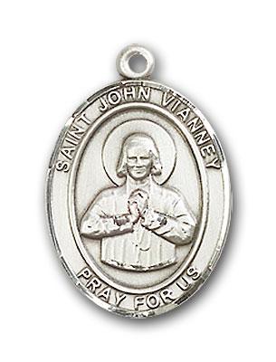 Sterling Silver St. John Vianney Pendant