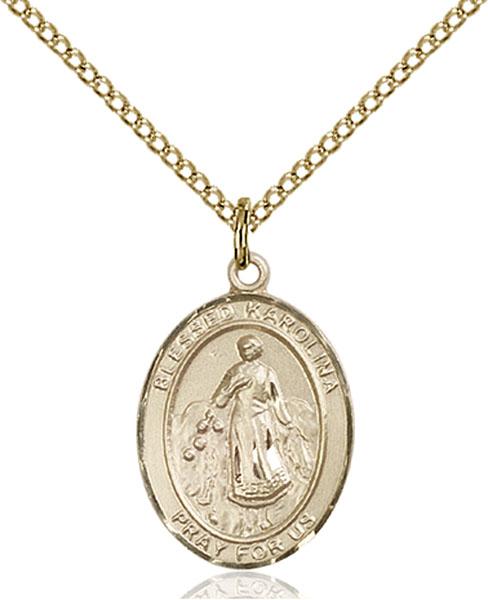 Gold-Filled Blessed Karolina Kozkowna Pendant
