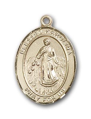 14K Gold Blessed Karolina Kozkowna Pendant