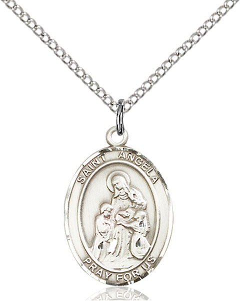 Sterling Silver St. Angela Merici Pendant