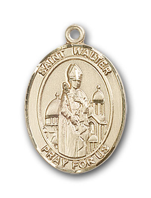 Gold-Filled St. Walter of Pontnoise Pendant
