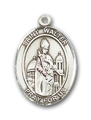 Sterling Silver St. Walter of Pontnoise Pendant