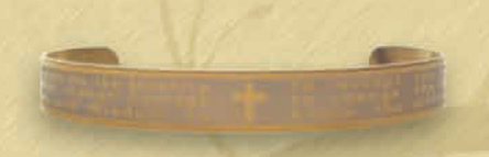 Serenity Prayer Bangle Bracelet - Gold