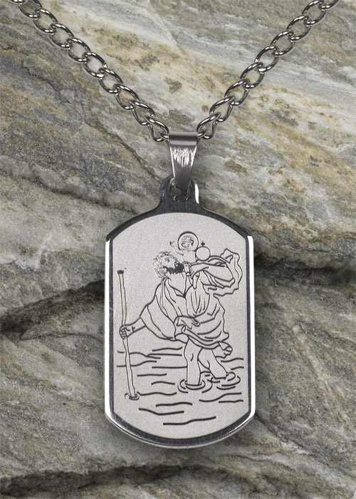St Christopher SS Necklace