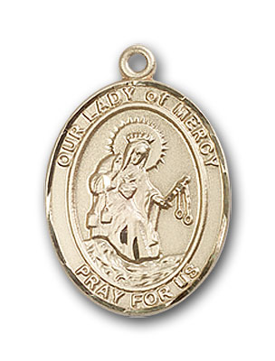 14K Gold OUR LADY of Mercy Pendant