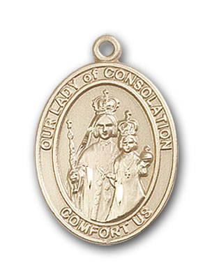 Gold-Filled Our Lady of Consolation Pendant