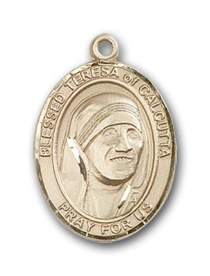14K Gold Blessed Teresa of Calcutta Pendant