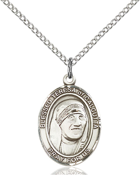 Sterling Silver Blessed Teresa of Calcutta Pendant