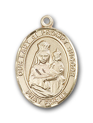 14K Gold OUR LADY of Prompt Succor Pendant