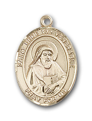 14K Gold St. Bede the Venerable Pendant