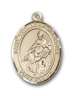 14K Gold St. Thomas of Villanova Pendant