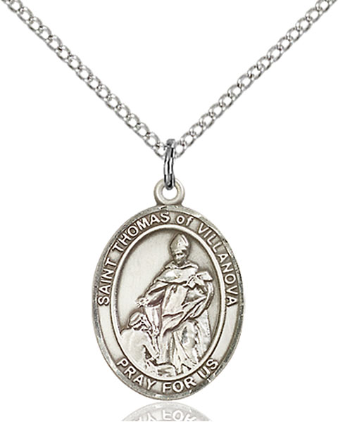 Sterling Silver St. Thomas of Villanova Pendant