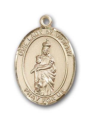Gold-Filled Our Lady of Victory Pendant