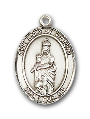 Sterling Silver Our Lady of Victory Pendant