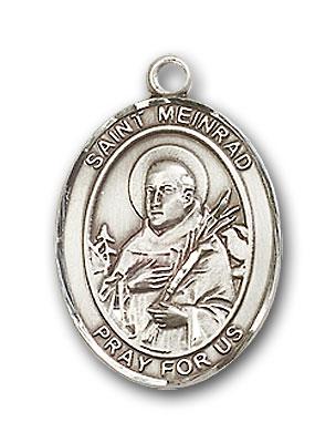 Sterling Silver St. Meinrad of Einsideln Pendant
