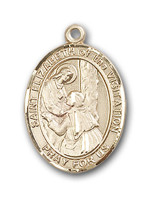 Gold-Filled St. Elizabeth of the Visitation Pendan