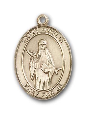 Gold-Filled St. Amelia Pendant