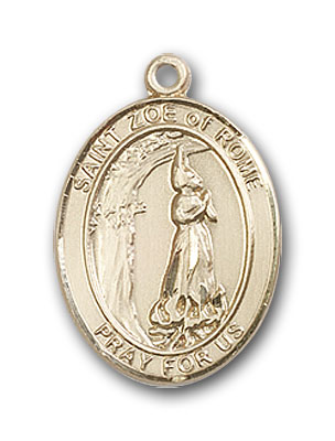 14K Gold St. Zoe of Rome Pendant