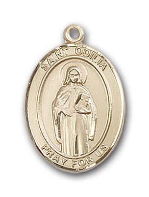 14K Gold St. Odilia Pendant