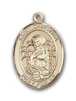 Gold-Filled St. Christina the Astonishing Pendant