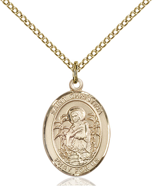Gold-Filled St. Christina the Astonishing Pendant