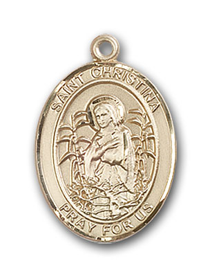 14K Gold St. Christina the Astonishing Pendant