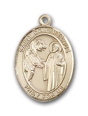 14K Gold St. Columbanus Pendant