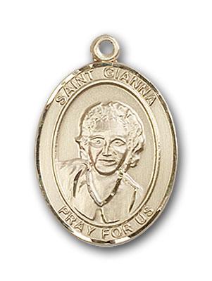 Gold-Filled St. Gianna Pendant