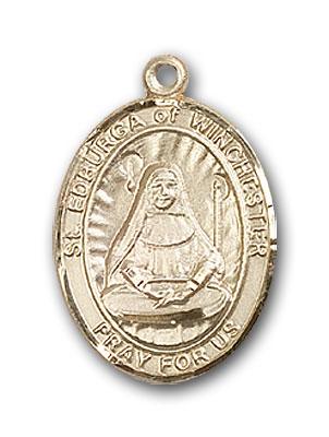 14K Gold St. Edburga of Winchester Pendant
