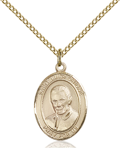 Gold-Filled St. Luigi Orione Pendant
